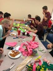 Building dog toys for the Humane Society with Phi Sigma Sigma! - October 2017