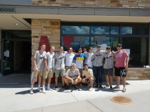 Brothers helping out incoming freshman move into their dorms! - August 2017