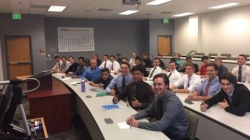 Pledges fall of 2016 in their mandatory Greek life meeting - September 2017