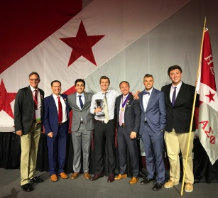 Mike, Justin, Nick, Colby, and Adam in North Carolina for a Alpha Sig leadership conference - July 2017