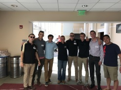 Our executive board at their officer retreat learning ways of improving Greek life on campus! - August 2017