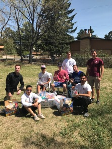 Giving lunches to the homeless - April 2017