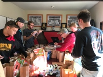 Spending our Veterans Day giving lunches to the less fortunate. - November 2017
