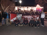 Marching in Downtown Colorado Springs in the Festival of Lights - December 2017
