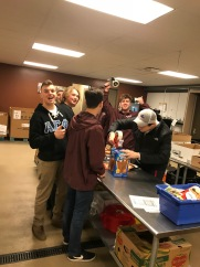 Volunteering at Care and Share - February 2018